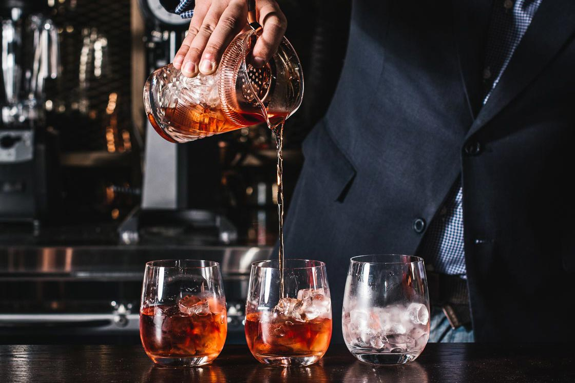 Pouring Negronis - Eastside Bar & Grill